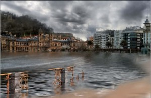 Donosti-San Sebastian inundada