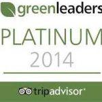 Reconocimiento a la sostenibilidad. Ecosello platino Tripadvaisor