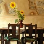 comedor de casa rural ecológica Kaaño etxea.