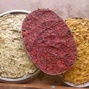 casa rural ecológica Kaaño etxea - pasta croquetas colores