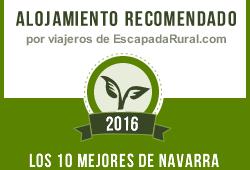 recomendado por los viajeros entre los 10 mejores del 2016 de toda Navarra en Escapada rural.