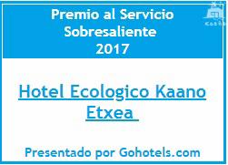 premio al servicio Sobresaliente en el 2017 en Kaaño etxea