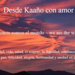 Nosotros somos el mundo – we are the world